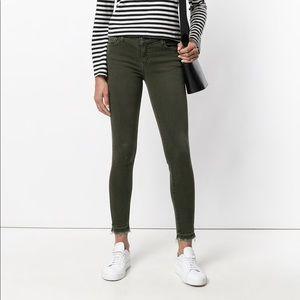 Current/Elliott Green Denim Skinny Jeans